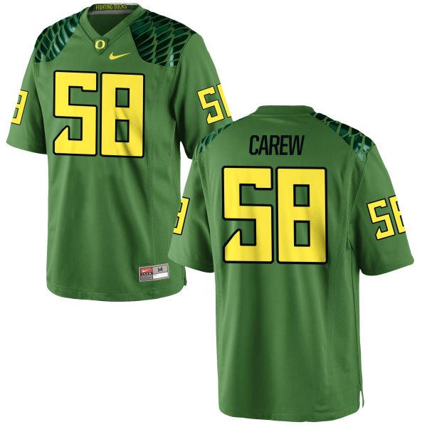 Men's Nike Tanner Carew Oregon Ducks Authentic Green Alternate Football Jersey Apple