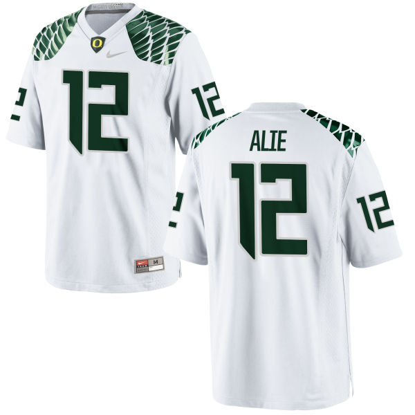 Men's Nike Taylor Alie Oregon Ducks Game White Football Jersey