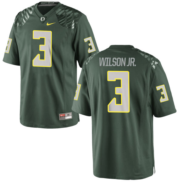 Men's Nike Terry Wilson Jr. Oregon Ducks Game Green Football Jersey
