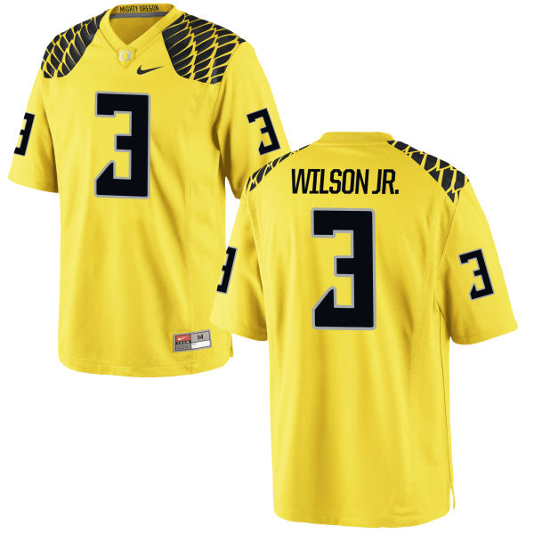 Men's Nike Terry Wilson Jr. Oregon Ducks Limited Gold Football Jersey
