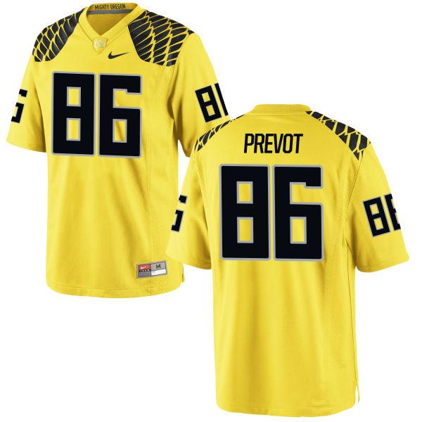 Men's Nike Torrodney Prevot Oregon Ducks Authentic Gold Football Jersey