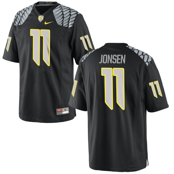 Men's Nike Travis Jonsen Oregon Ducks Replica Black Jersey