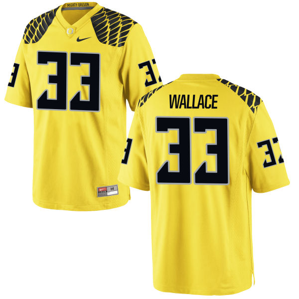Men's Nike Tristen Wallace Oregon Ducks Authentic Gold Football Jersey