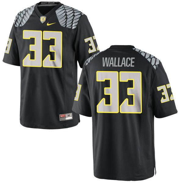 Men's Nike Tristen Wallace Oregon Ducks Game Black Jersey