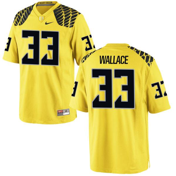 Men's Nike Tristen Wallace Oregon Ducks Game Gold Football Jersey