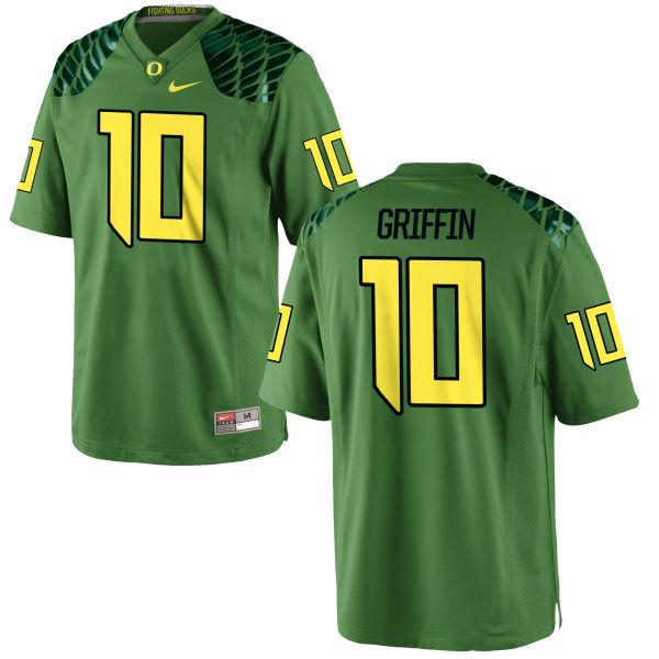 Men's Nike Ty Griffin Oregon Ducks Replica Green Alternate Football Jersey Apple