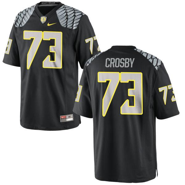 Men's Nike Tyrell Crosby Oregon Ducks Replica Black Jersey