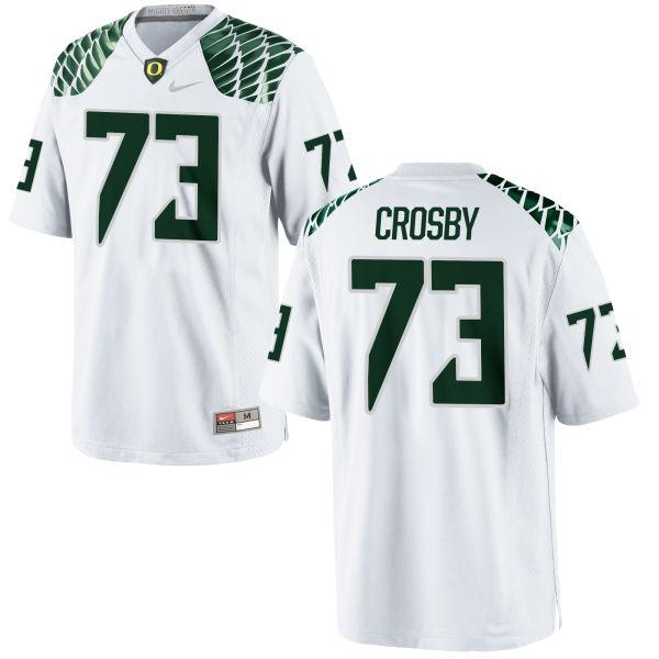Men's Nike Tyrell Crosby Oregon Ducks Authentic White Football Jersey