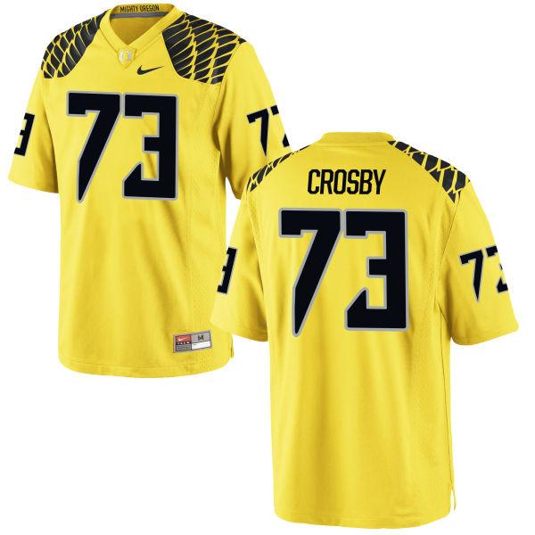 Men's Nike Tyrell Crosby Oregon Ducks Authentic Gold Football Jersey