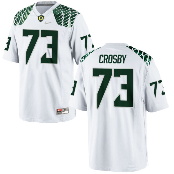 Men's Nike Tyrell Crosby Oregon Ducks Game White Football Jersey