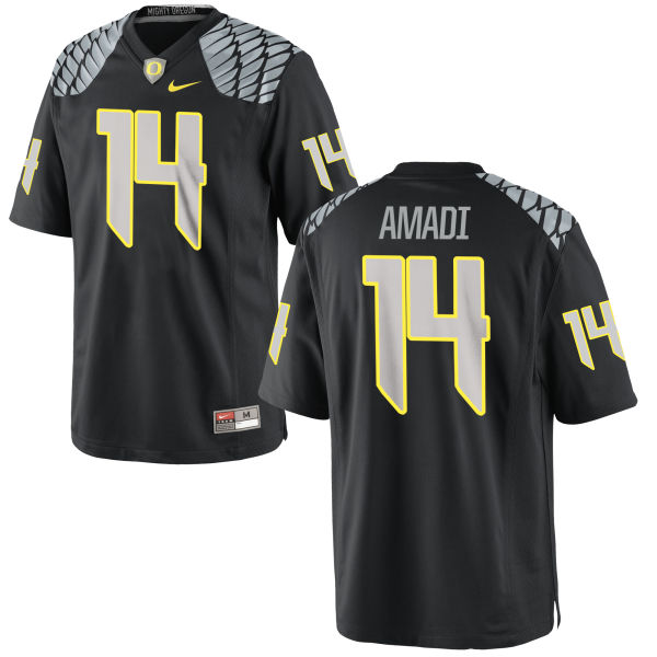 Men's Nike Ugo Amadi Oregon Ducks Replica Black Jersey
