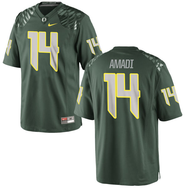 Men's Nike Ugo Amadi Oregon Ducks Game Green Football Jersey