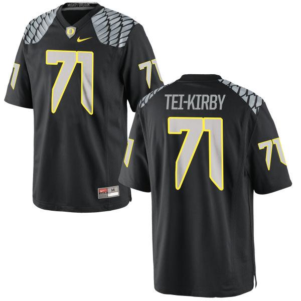 Men's Nike Wayne Tei-Kirby Oregon Ducks Authentic Black Jersey