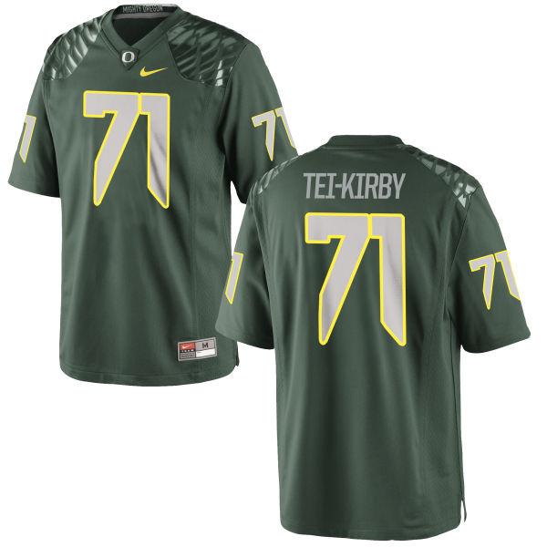 Men's Nike Wayne Tei-Kirby Oregon Ducks Game Green Football Jersey