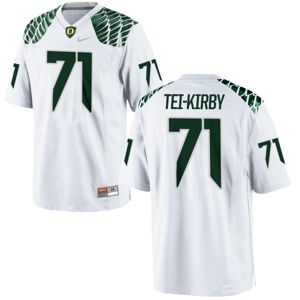 Men's Nike Wayne Tei-Kirby Oregon Ducks Limited White Football Jersey