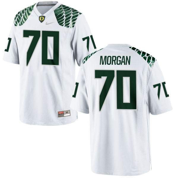 Men's Nike Zac Morgan Oregon Ducks Replica White Football Jersey