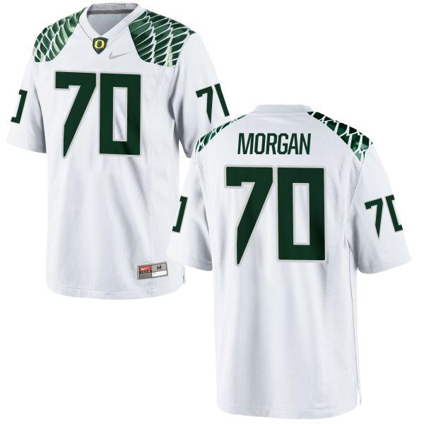 Men's Nike Zac Morgan Oregon Ducks Game White Football Jersey