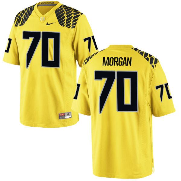 Men's Nike Zac Morgan Oregon Ducks Game Gold Football Jersey