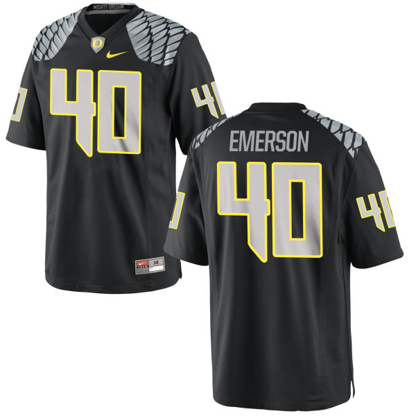 Men's Nike Zach Emerson Oregon Ducks Authentic Black Jersey