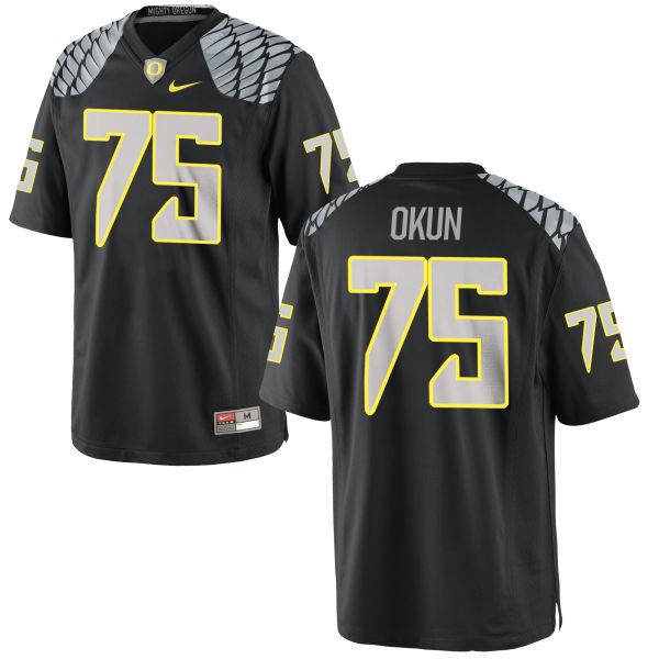 Men's Nike Zach Okun Oregon Ducks Authentic Black Jersey