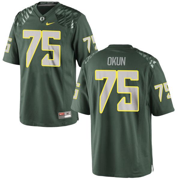 Men's Nike Zach Okun Oregon Ducks Game Green Football Jersey