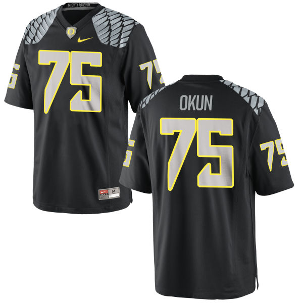 Youth Nike Zach Okun Oregon Ducks Replica Black Jersey