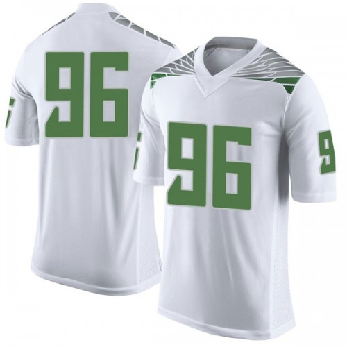 Men's Nike Adam Stack Oregon Ducks Limited White Football College Jersey