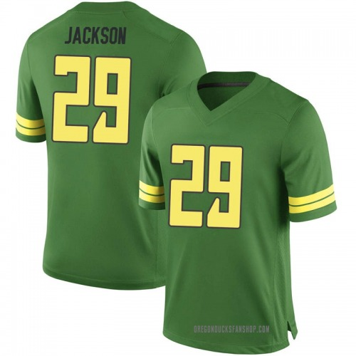 Men's Nike Adrian Jackson Oregon Ducks Game Green Football College Jersey