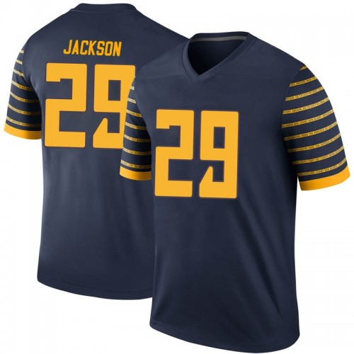 Men's Nike Adrian Jackson Oregon Ducks Legend Navy Football College Jersey