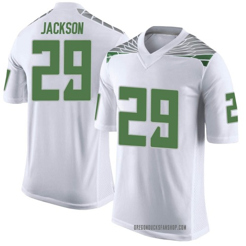 Men's Nike Adrian Jackson Oregon Ducks Limited White Football College Jersey