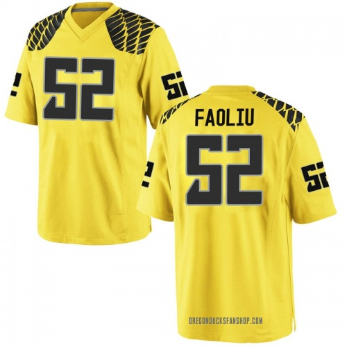 Men's Nike Andrew Faoliu Oregon Ducks Game Gold Football College Jersey
