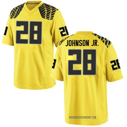 Men's Nike Andrew Johnson Jr. Oregon Ducks Game Gold Football College Jersey