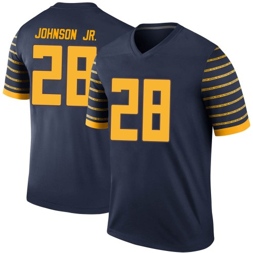 Men's Nike Andrew Johnson Jr. Oregon Ducks Legend Navy Football College Jersey
