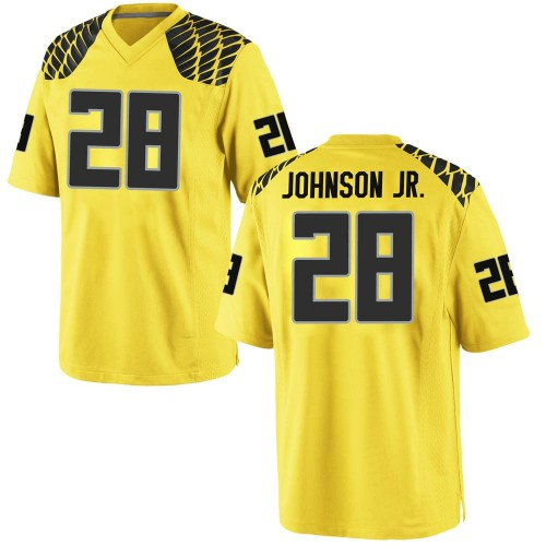 Men's Nike Andrew Johnson Jr. Oregon Ducks Replica Gold Football College Jersey