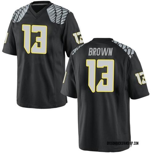 Men's Nike Anthony Brown Oregon Ducks Game Black Football College Jersey