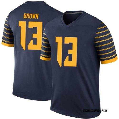 Men's Nike Anthony Brown Oregon Ducks Legend Brown Navy Football College Jersey