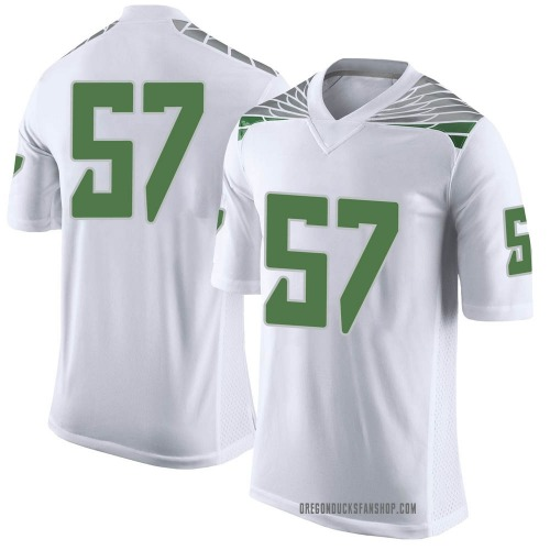 Men's Nike Ben Gomes Oregon Ducks Limited White Football College Jersey