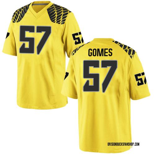 Men's Nike Ben Gomes Oregon Ducks Replica Gold Football College Jersey
