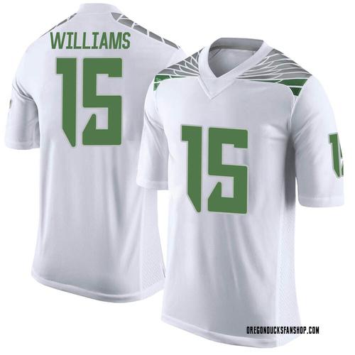Men's Nike Bennett Williams Oregon Ducks Limited White Football College Jersey