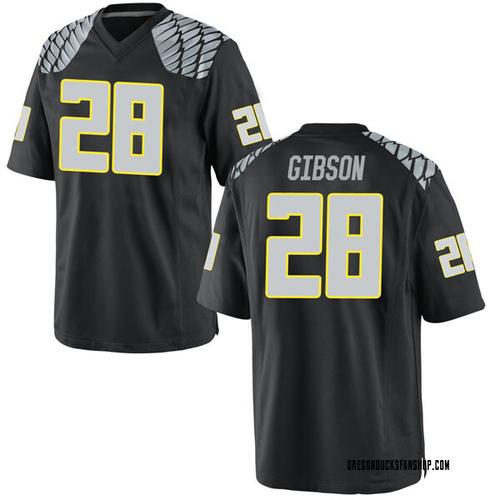 Men's Nike Billy Gibson Oregon Ducks Game Black Football College Jersey