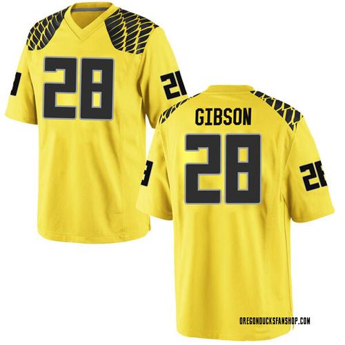 Men's Nike Billy Gibson Oregon Ducks Replica Gold Football College Jersey