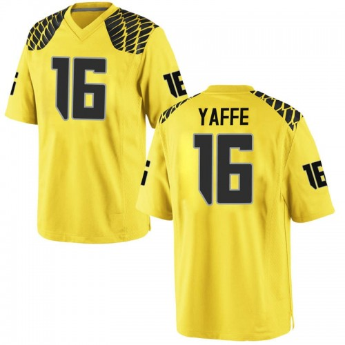 Men's Nike Bradley Yaffe Oregon Ducks Game Gold Football College Jersey