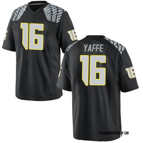 Men's Nike Bradley Yaffe Oregon Ducks Replica Black Football College Jersey