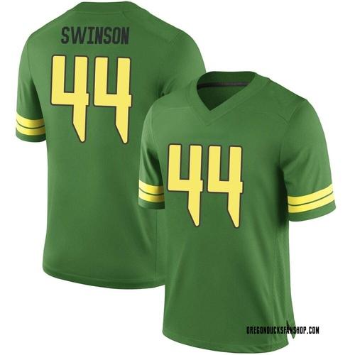 Men's Nike Bradyn Swinson Oregon Ducks Game Green Football College Jersey
