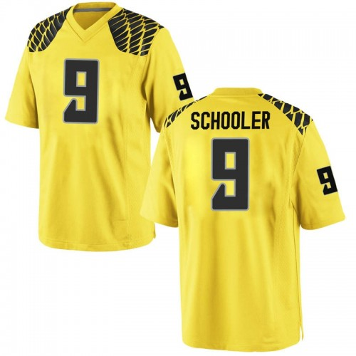 Men's Nike Brenden Schooler Oregon Ducks Game Gold Football College Jersey