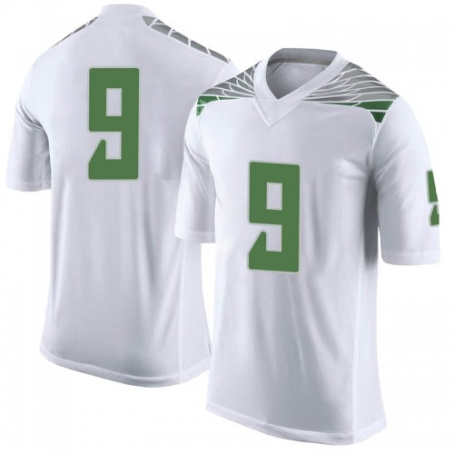 Men's Nike Brenden Schooler Oregon Ducks Limited White Football College Jersey