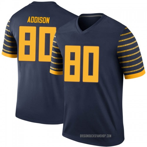 Men's Nike Bryan Addison Oregon Ducks Legend Navy Football College Jersey