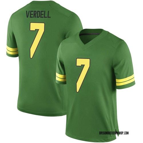 Men's Nike CJ Verdell Oregon Ducks Game Green Football College Jersey