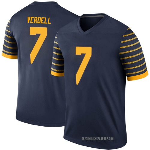 Men's Nike CJ Verdell Oregon Ducks Legend Navy Football College Jersey
