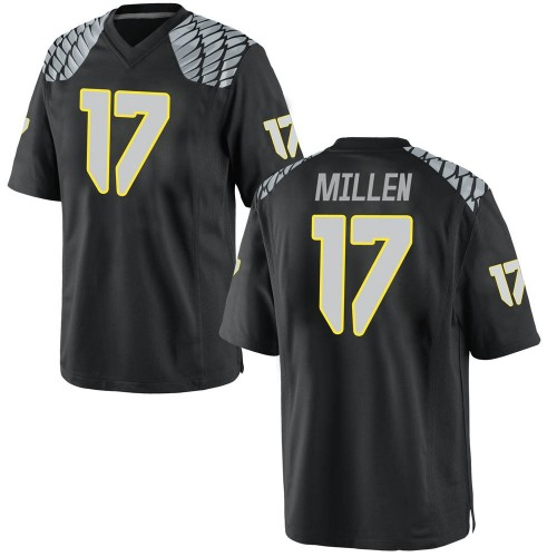 Men's Nike Cale Millen Oregon Ducks Game Black Football College Jersey